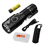 NITECORE MH23 1800 Lumen USB Rechargeable Mini Flashlight with 3500mAh 8A 18650 Rechargeable High Performance Battery & LumenTac Battery Organizer