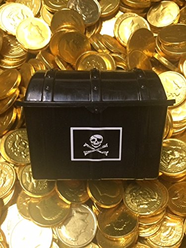 Pirate's Treasure Chest - Filled with 50 Large Gold Chocolate Coins by RM Palmer from RM Palmer