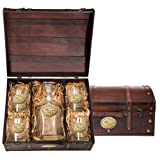 Georgia Tech Yellow Jackets Capitol Decanter Wood Chest Set