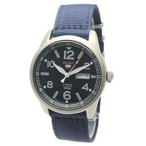 3 J1 Blue Dial Nylon Strap Automatic Men's Watch (5 Sports Automatic Blue Dial)