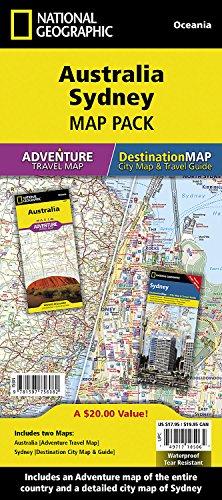 Australia, Sydney [Map Pack Bundle] (National Geographic Adventure Map)