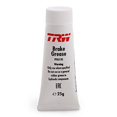 TRW Brake Grease 25g. PFG110. TRW brake cylinder paste is used for repair, assembly and conservation of hydraulic brake components It is applied thinly and evenly to cylinder sleeves, pistons, caliper: Automotive