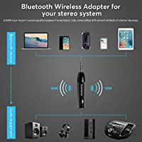 Mini Bluetooth Receiver for HiFi Bluetooth Audio Adapter 3.5mm Aux Input Jack Receiver for Streaming Music from Old Car Home Radio Headphones Speakers Stereo Systems Black Synerky SY-C3A001B0US