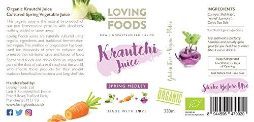 Loving Foods Orgánico Jugo Mezcla de Primavera de Krautchi ...