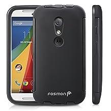Fosmon® Motorola Moto G (2nd Gen, 2014) Case (HYBO-SNAP) Detachable Full Body Hybrid Bumper Case Cover with Bulit in Screen Protector for Motorola Moto G (2nd Gen, 2014) - Fosmon Retail Packaging (Black)