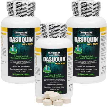 Dasuquin 3PACK for Small/Medium Dogs under 60 lbs. with MSM (252 Chewable Tabs)