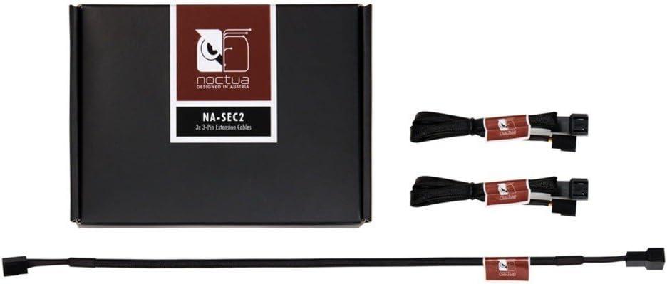 Noctua NA-SEC2, cables alargadores de 3 pines para ventiladores (30 cm, negro)