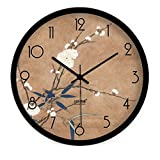 HOMEE Creative Painting Chinese Bamboo Wall Clock/Modern Living Room Bedroom Quiet Quartz Clock ,B,16Inch