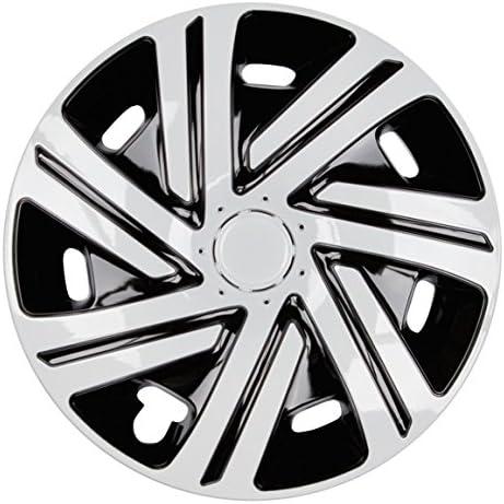 Premium Radkappen Radzierblenden Radblenden Modell Cyrkon 4er Set Farbe Schwarz Weiß Felgendurchmesser 16 Zoll Auto