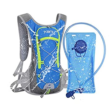91b76dff8203 KBNI Hydration Backpack with 2 Litre (68 Ounce) Water Bladder, Lightweight,  Suitable for Outdoor...
