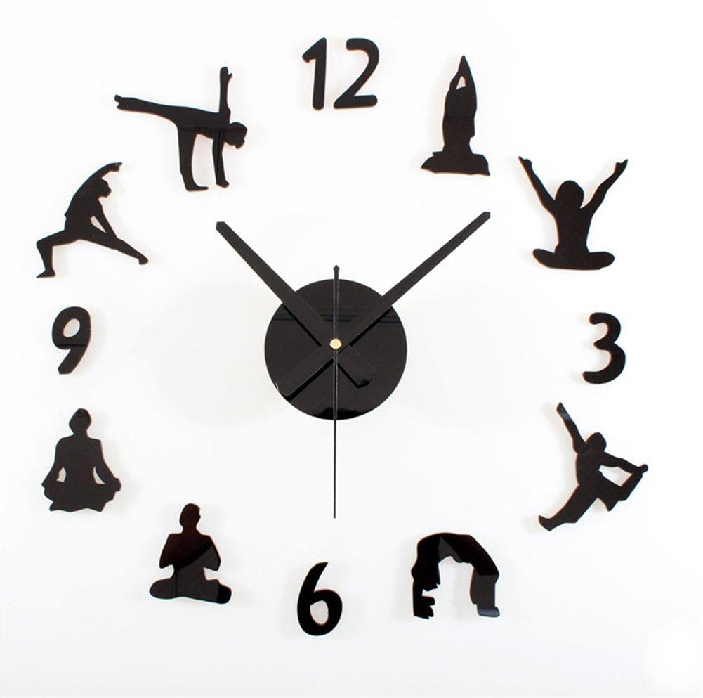DIY Mauer Uhr Modern 3D Acryl Große Uhr Spiegel Aufkleber Zimmer ...