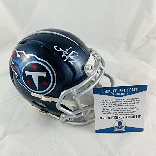 Aj Brown Signed Tennessee Titans Speed Mini Helmet Authentic Bas Coa #h99342 - Beckett Authentication ()