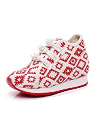 Tianrui Crown Girl's Print Casual Traveling Shoes Sneaker Kid's Cute Casual Sport Canvas Shoe