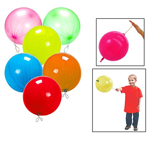 "Toy Cubby Neon Fun Colored Punch Balloon, 10"" Balloons, 100"