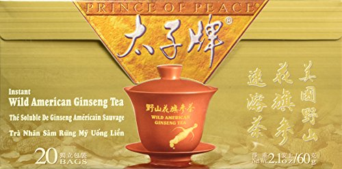 Prince of Peace Wild American Ginseng Instant Tea, Triple Pack (3 Boxes X 20 (American Ginseng Instant Tea)