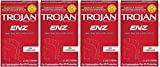Trojan ENZ LBmSXH Non-Lubricated Condoms, 12 Count (Pack of 4)