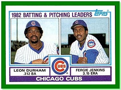 1983 Topps 51 Chicago Cubs Team Ferguson Fergie Jenkins Hof