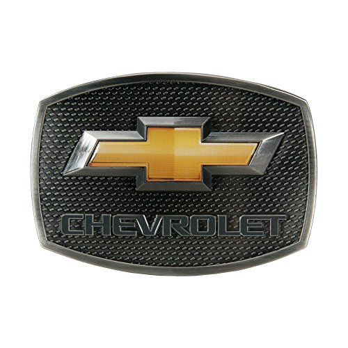 SpecCast Brand Chevrolet Gold Bow Tie Pewter Buckle Belt Buckle - 09117