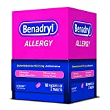 Benadryl Allergy Ultratab Packet Dispensers 60 Count