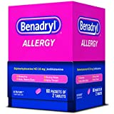Benadryl Allergy Ultratab Packet Dispensers 60 Count, 2 Tablets