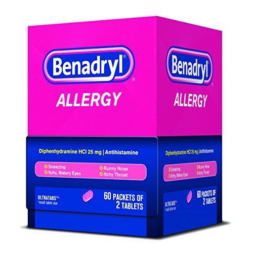 Benadryl Allergy Ultratab Packet Dispensers 60 Count