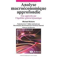 Analyse macroeconomique appr. ouvertures econo.