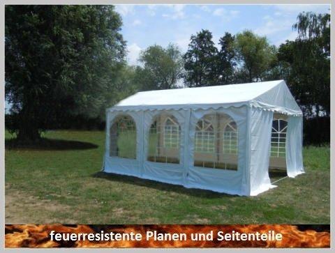 Pavillon Pavillion Festzelt Partyzelt Giant Pro PVC FR 6x6m 6x6 mit Fenster