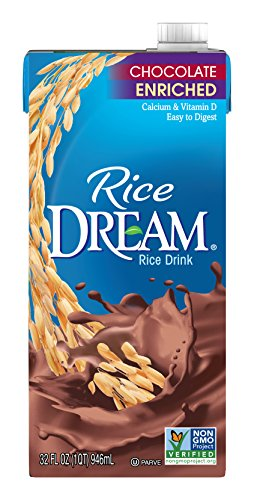 RICE DREAM Enriched Chocolate Rice Drink, 32 fl. oz. (Pack of 12)