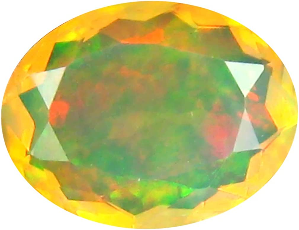 2.04 Ct Aaa+ Grade Premium Gem Quality Oval Schnitt (12 X 9 Mm) Un-Heated Ethiopian Rainbow Opal Genuine Loose Gemstone