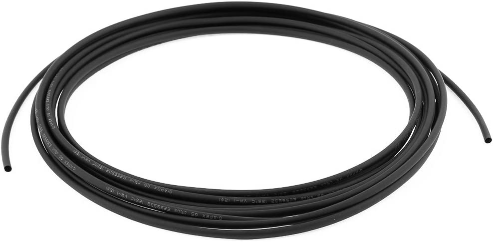 uxcell 5M x 2mm Diameter 2:1 Shrinkage Ratio Insulated Heat Shrink Tubing Black