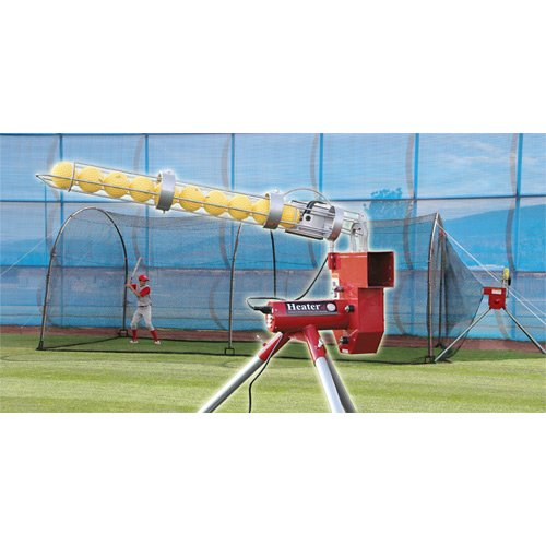 (Heater Sports Sports Baseball Pitching Machine and Xtender 24 Batting Cage)