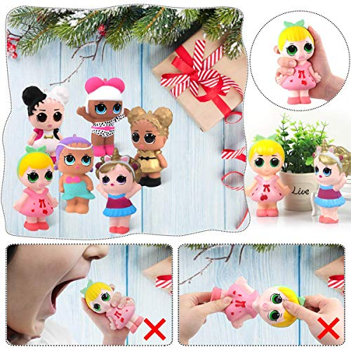 POKONBOY 6 Pack Jumbo Squishies Squishy Toys Cute Kawaii Squishies Slow Rising Squishies Pack Party Favors Stress Relief Toys for Grils Boys Keychain Phone Straps