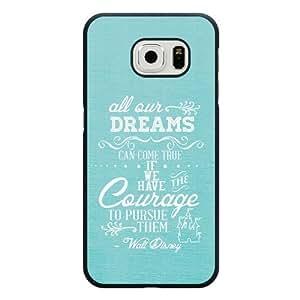 For Iphone 6 4.7 Inch Case Cover Diy Disney Walt Disney Quotes Black Hard Shell For Iphone 6 4.7 Inch Case Cover Walt Disney Quotes Edge Case(Only Fit for Edge)