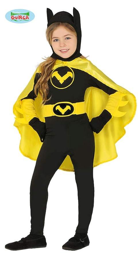 19f13b21b807 Guirca Costume Batgirl Superoina Batman Bambina Halloween Carnevale Taglia  5/6 Anni