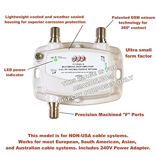 PCT 1-Port Cable TV OTA HDTV Amplifier Splitter Signal Booster