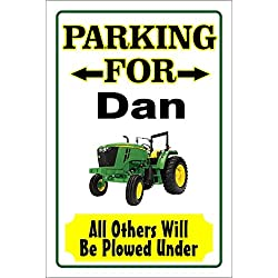 John Deere Parking Sign Personalize Name Free 8x12