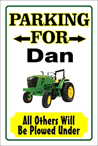 Personalized Parking No Signs (John Deere Parking Sign Personalize Name Free 8x12)
