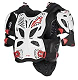 Alpinestars Unisex-Adult A-10 Full Chest Protector White/Black/Red Md/Lg (Multi, one_size)