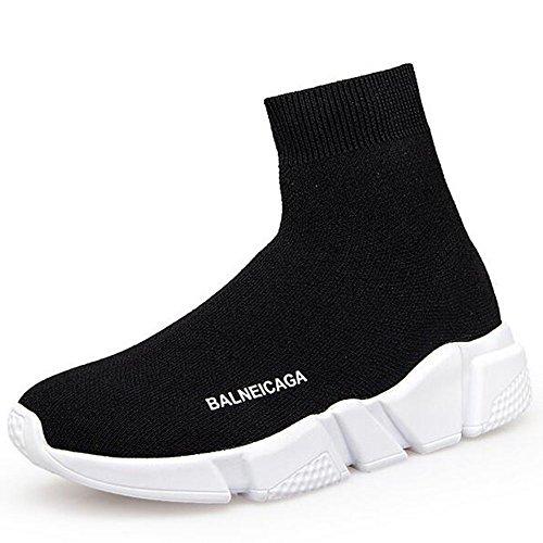 GSHE Shoes Sneakers Da Donna Alla Moda Da Uomo Ultra Leggere E Traspiranti Scarpe Da Passeggio Sportive Da Passeggio In Maglia Scarpe Da Uomo EU34-EU44 Black