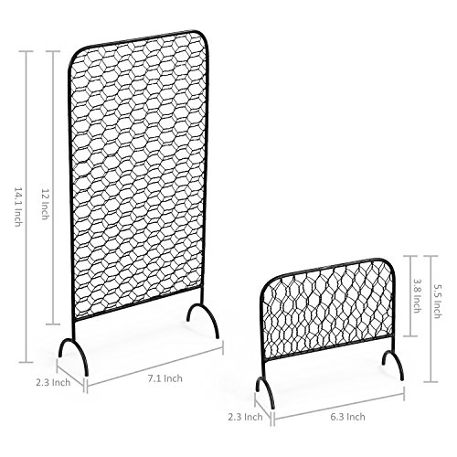 MyGift Metal Chicken Wire Earring Organizer Racks, Set of 2 by MyGift (Image #4)