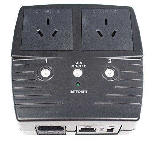 3Gstore Remote Power IP Switch - 2 Outlets (Type I for China, Australia, New Zealand, Argentina + More) (Best Modem Router Australia)