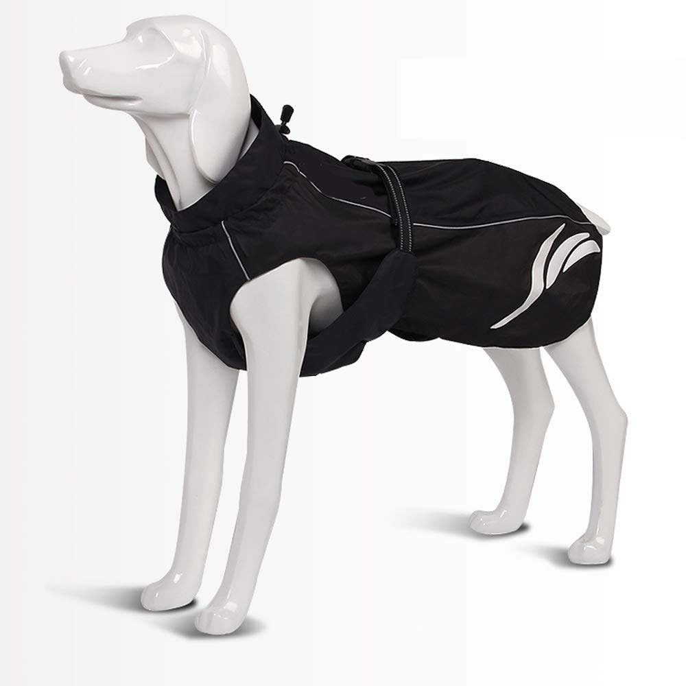 Black 60 Black 60 Dog coat waterproof dog clothes windproof winter warm pet clothes suitable for large, medium and small dogs