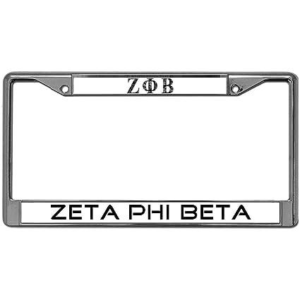 Amazon.com: Custom License Plate Metal Frame Zeta Phi Beta Car ...