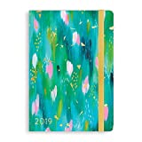 2018-2019 Eccolo Designer Painterly with Pen Hardcover 18 Month Agenda Planner, Monthly & Weekly Views, 5.25 x 7.75