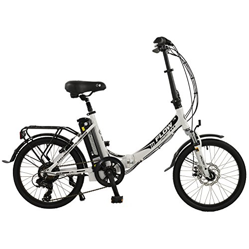 "Flow 20"" Unisex Alloy Low Step Folding Electric Bike, Grey"
