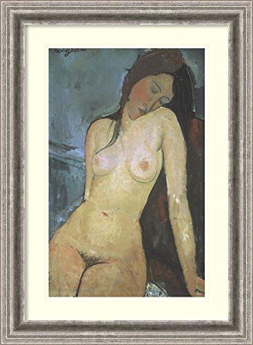 Framed Art Print 'Seated Nude, ca. 1917' by Amedeo Modigliani
