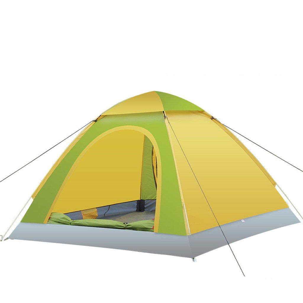 Zelt LINGZHIGAN Outdoor Automatische Camping Hand Werfen Doppeltür Single Layer Camping Regensicher Geschwindigkeit Geöffnetes