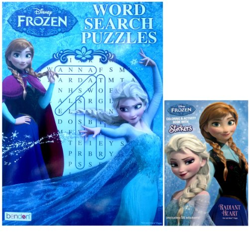 Frozen Disney Word Search Book & Pocket Size Coloring & Activity Book with Stickers (Frozen Pocket Book)