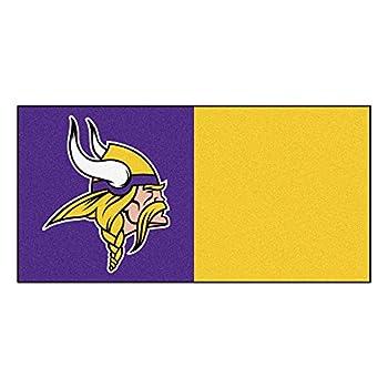 Image of Area Rugs Fanmats Minnesota Vikings Team Carpet Tiles