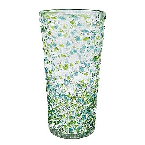 The CONFETTI Green Ice-Tea 16oz Glass by Mariposa - by Mariposa